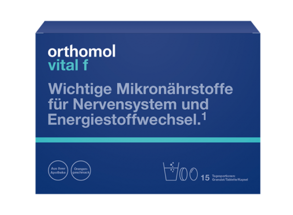 Orthomol Vital M(гранули апельсин + таблетки + капсули)