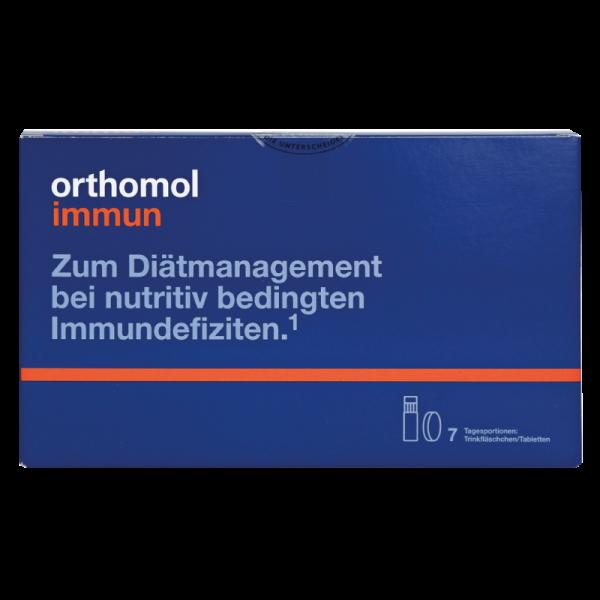 Orthomol Immun (питьевые бутылочки + таблетки) (небольшой дефект упаковки)