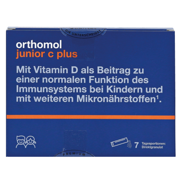 Orthomol Junior C Plus (гранулы директ малина/лайм)