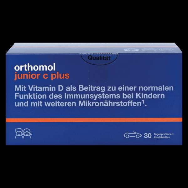 Orthomol Junior C Plus (жевательные конфетки апельсин)
