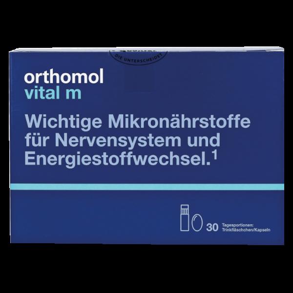 Orthomol Vital M (питьевые бутылочки + капсулы) (дефект на упаковке)